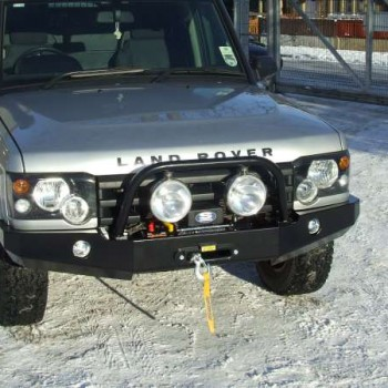 Discovery 2 Winch Bumper with Lamp Bar