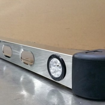 RS Defender Bumper with lights Stainless